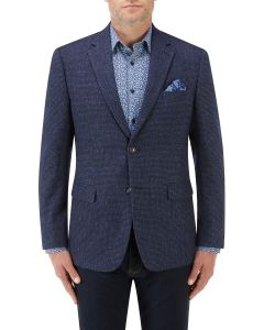 Ellis Textured Jacket Blue