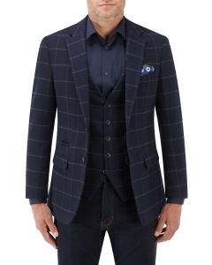 Warwick Jacket Navy Check
