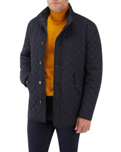 Pembridge Quilted Coat Navy
