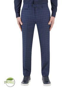 Angus Suit Slim Trouser Blue Check