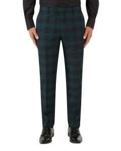 Sanchez Suit Tailored Trouser Navy / Green Check