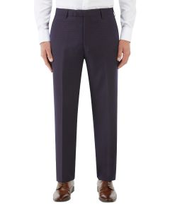 Mac Suit Tapered Trouser Navy / Wine Check