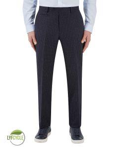 McDonald Suit Slim Trouser Blue Stripe