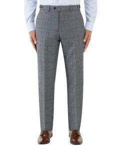 Tudhope Suit Tapered Trouser Blue Check
