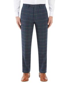 Doyle Suit Tapered Trouser Navy Check