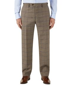 Welburn Suit Tailored Trouser Brown Check