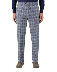 Camini Suit Slim Trouser Blue Check