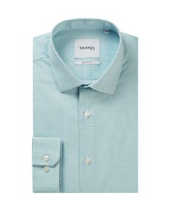 Teal / Brown Geo Formal Shirt