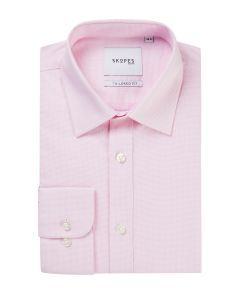 Tailored Formal Shirt Pink Micro Weave
