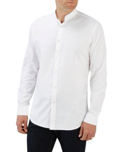 White Pinpoint Casual Shirt