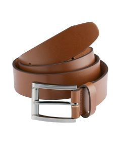 Made-In-England Tan Leather Belt