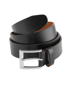 Made-In-England Black Leather Belt