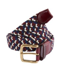 Stretch Webbing Navy / Wine Belt