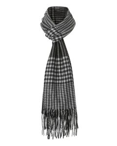 Koa Black / Grey Check Scarf
