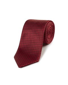 Red with Black Chain Pattern Tie
