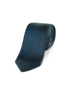 Navy with Teal Chain Pattern Tie