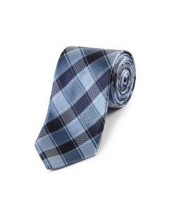 Blue Bold Check Tie