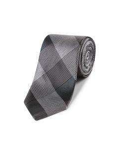 Grey Bold Check Tie