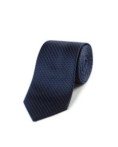 Navy Geo Silk Tie