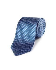 Blue Geo Silk Tie