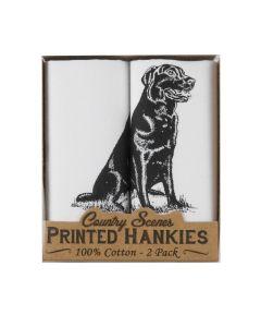 Printed Handkerchief Black Labrador