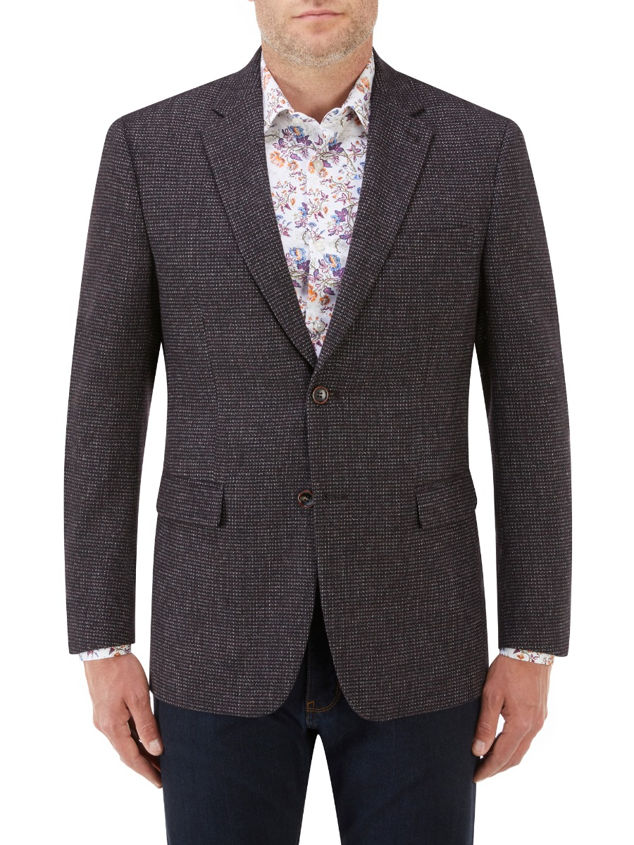 Ellis Textured Jacket Wine