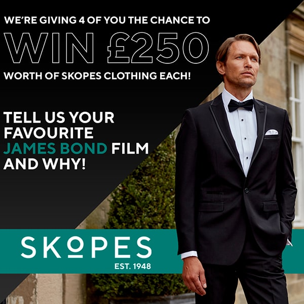 We're giving 4 of you the chance to win 250 pounds worth of Skopes clothing each!