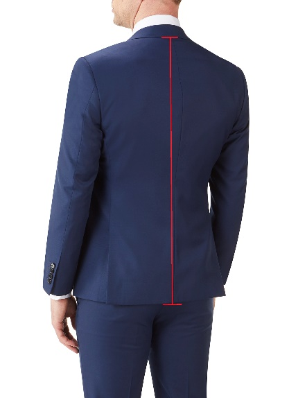 Slim Fit Suit Jackets / Blazers (back)