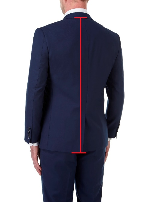 Tailored Fit Suit Jackets / Blazers (back)