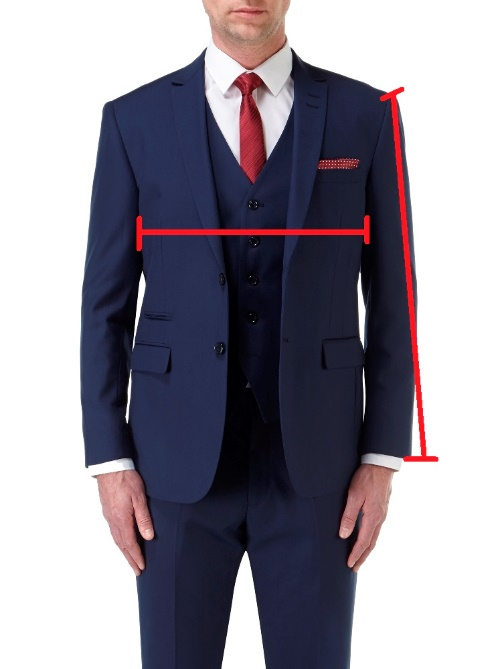 Tailored Fit Suit Jackets / Blazers (front)